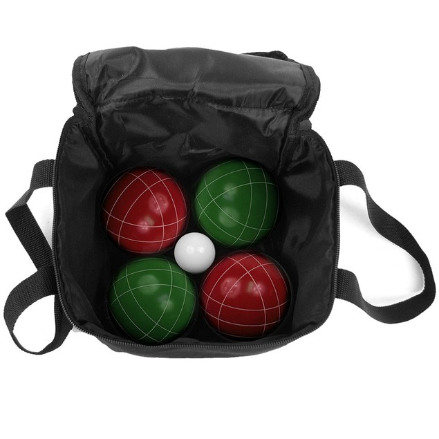 Bocce Ball Set- Outdoor Family Bocce Game with Equipment Carrying Case