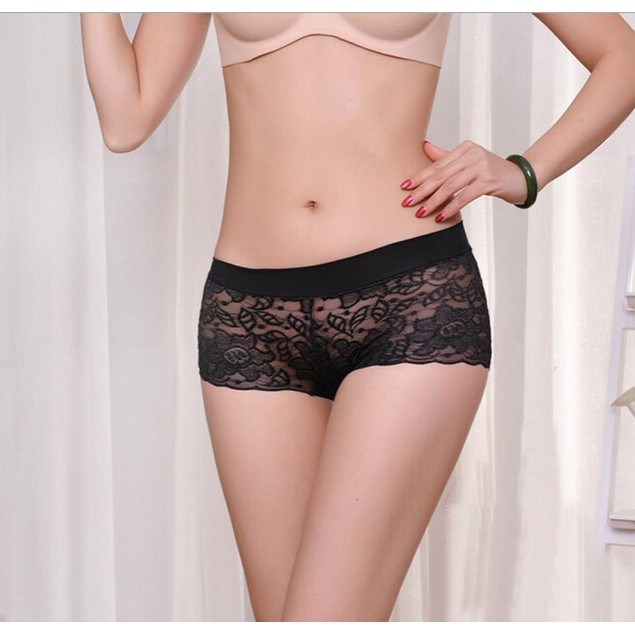 Women Lace Panties Underwear Transparent Comfort Knickers breathable