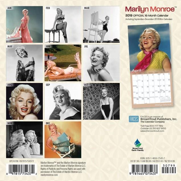 Marilyn Monroe Mini Wall Calendar