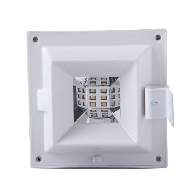 Solar Power Motion Sensor Outdoor Security Gutter Spot LED Flood Light