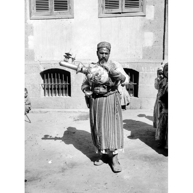 Egypt: Cairo. /Na Man Working On The Street As A Lemonade Vendor, Cairo, Eg