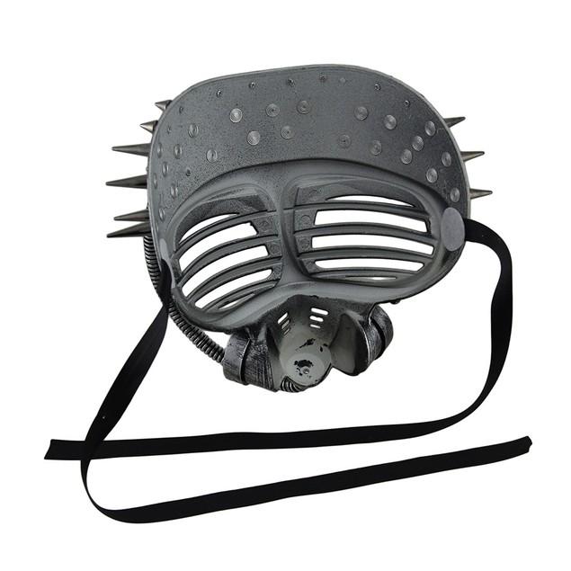 Metallic Finish Spiked Steampunk Full Face Mens Costume Masks