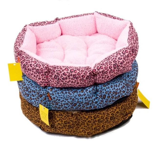 Leopard Print Pet Bed - 3 Colors