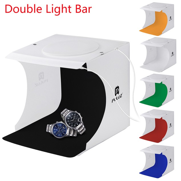 Double LED Light Tent Backdrop Cube Box For Room Photo Studio Photography