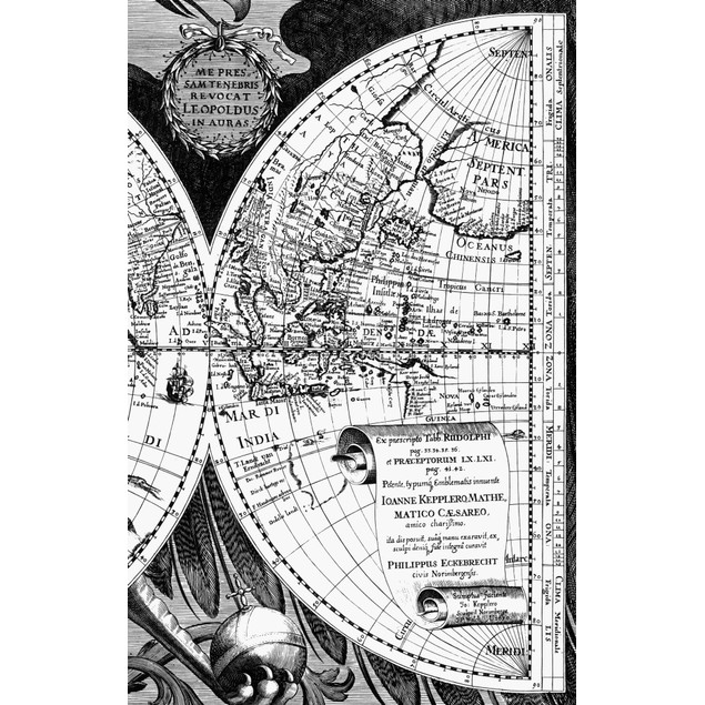Map Of The World, 1630. /Ndetail Of The Western Pacific From Philipp Eckbre