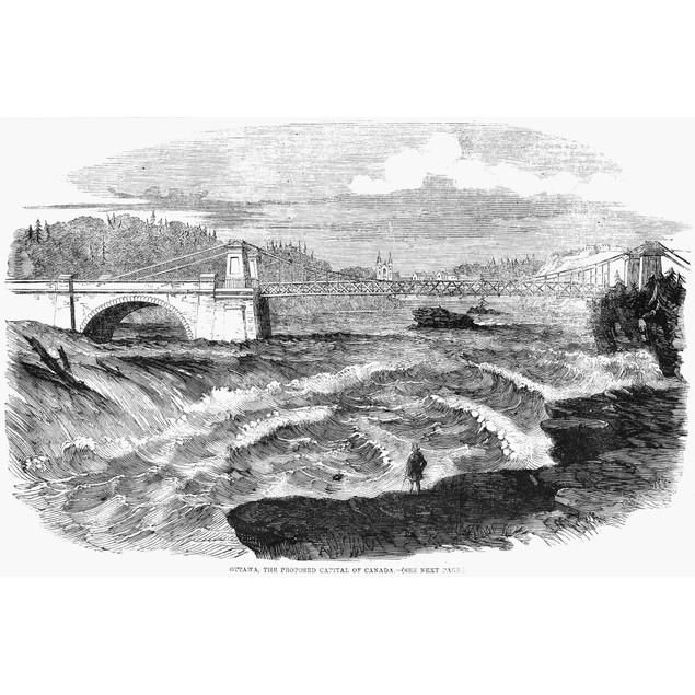 Ottawa, Canada, 1858. /N'Ottowa, The Proposed Capital Of Canada.' Wood Engr
