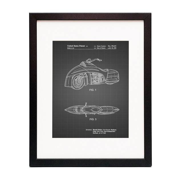 Robin Motorcycle Patent Poster