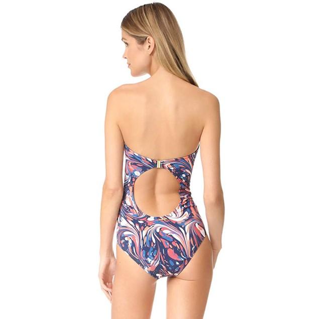 TYR TTSOD7A Women's Solids Trinityfit Swimsuit, Black/Pink - 34