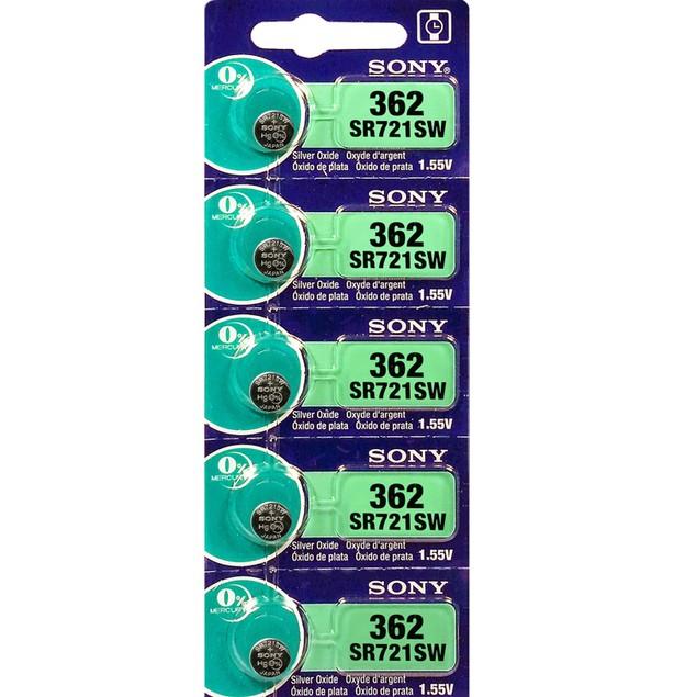 Sony 362 (SR721SW) 1.55-Volt Silver Oxide Watch Batteries (5 Pack)