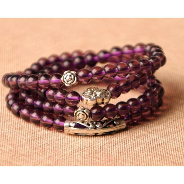 Novadab Iris Purpolic Charming Layered Bead Bracelet