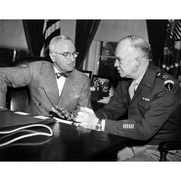Dwight D Eisenhower with Harry Truman Poster