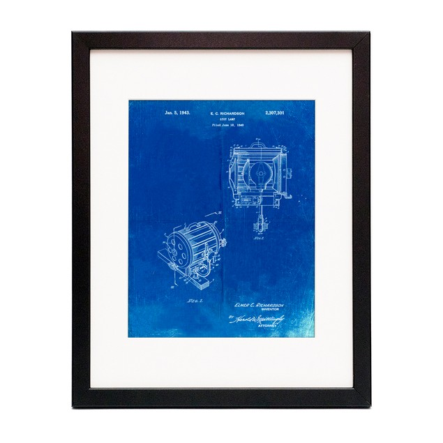 Movie Set Lighting Patent Poster