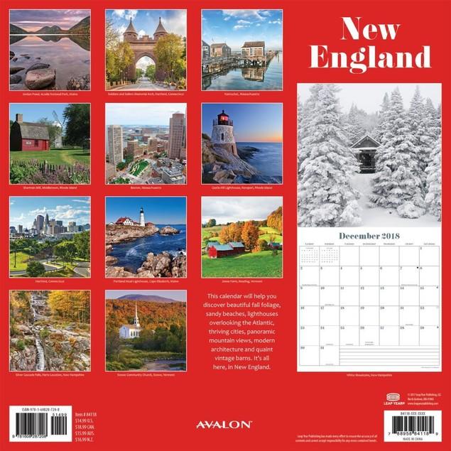Avalon New England Wall Calendar