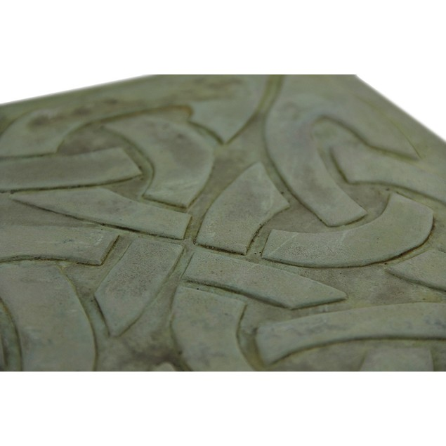 4 Piece Square Celtic Knot Design Molded Cement Stepping Stones