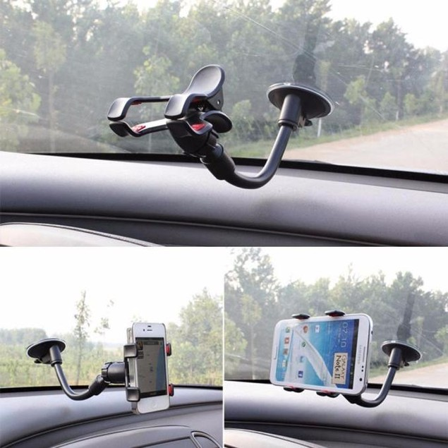 360 Degree Rotating Car Windshield Mount Stand Holder for Cell Phones