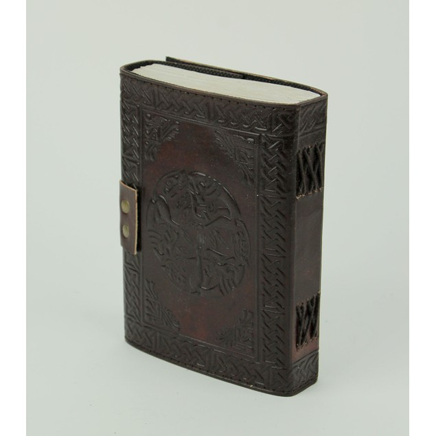 Embossed Leather Celtic Pentacle 120 Leaf Diary Art Sketchbooks And