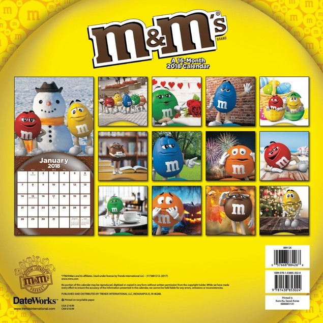 M&M's Wall Calendar, More Food | Drink by Calendars