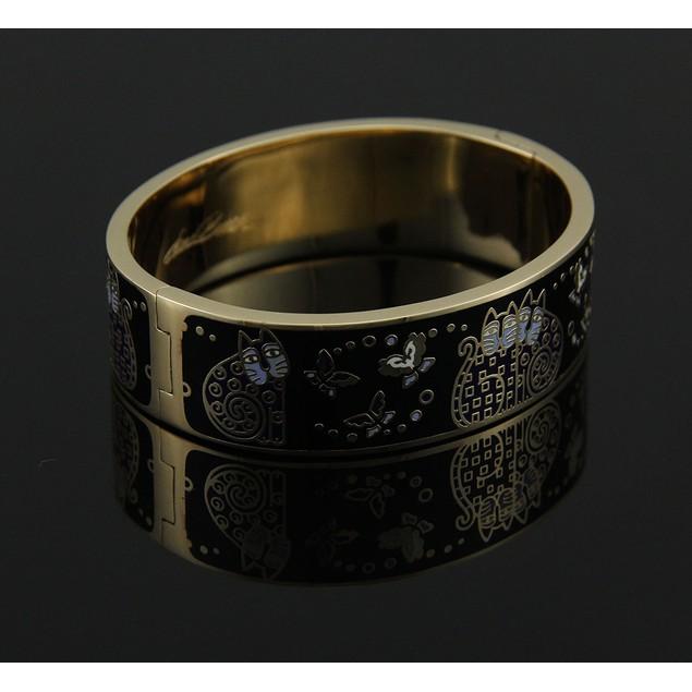 Laurel Burch Indigo Cats Colorful Cloisonne Black Womens Bracelets