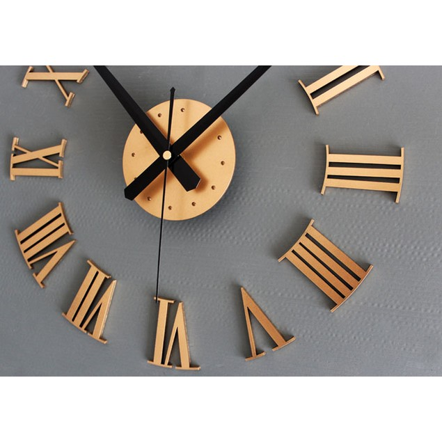 DIY Luxury 3D Wall Clock Large Size Home Decoration Art Clock