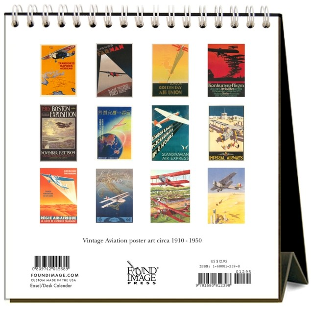 Aviation Easel Calendar, Airplanes by Calendars