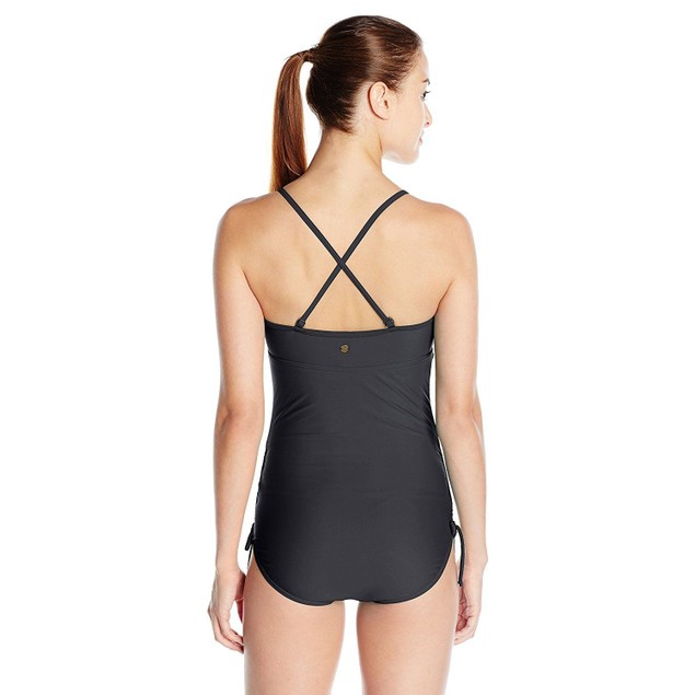 prAna Women's Moorea One Piece Swimsuit, Black SZ: X-SMALL