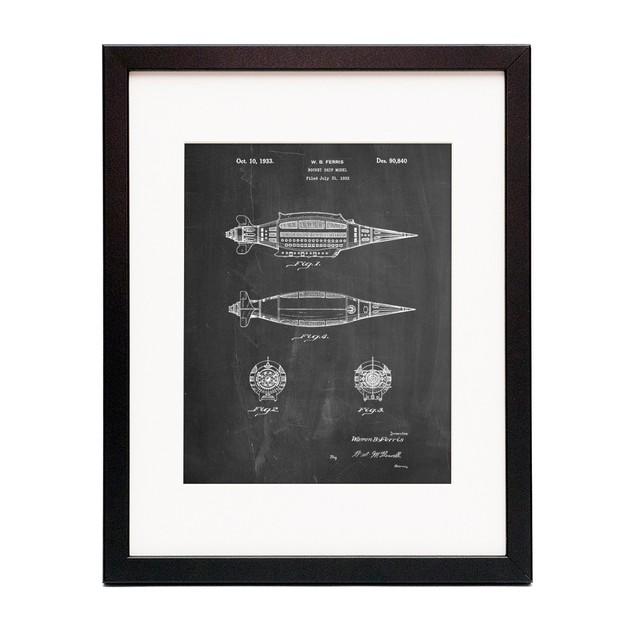 Rocket Ship Model Patent Poster