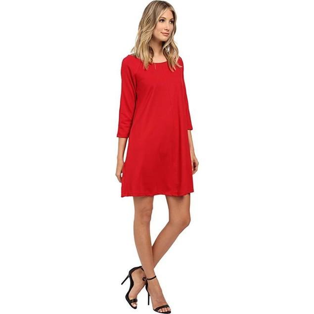 Christin Michaels Women's Michelle Dress Red Dress 12