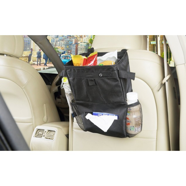 Zone Tech Car Seat Back Organizer Litter Trash Bag Storage Holder Travel