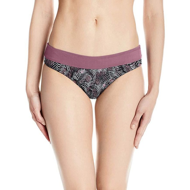 CARVE Designs Women's Catalina Swim Bottom, Black Plume W. Clay, X-Lar