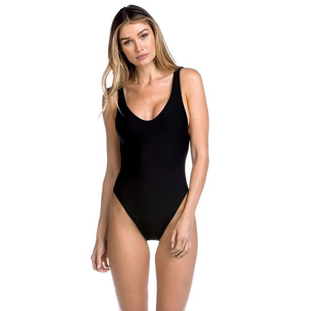 Becca by Rebecca Virtue Women's Reversible One Piece Tank Swimsuit Min