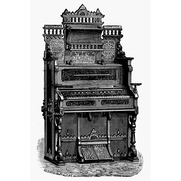 Organ, 19Th Century. /Nthe New Imperial, Manufactured By The Sterling Organ