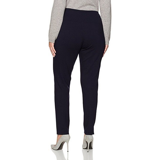 SLIM-SATION Women's Plus Size Pull-on Solid Ponte Ankle Leggings 1X