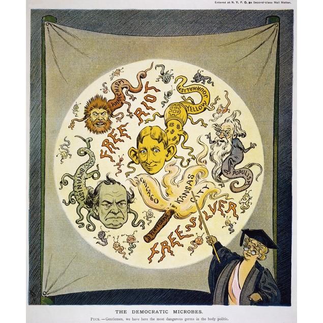 Bryan & Hearst Cartoon. /Namerican Cartoon, 1904, Depicting Anarchy, Populi