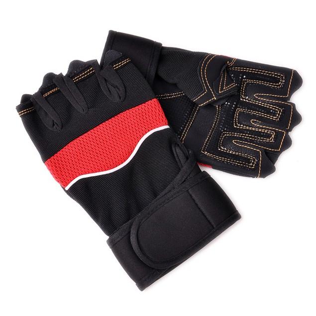 Outdoor Sport Gym Workout Weight Lifting Training Fingerless Gloves