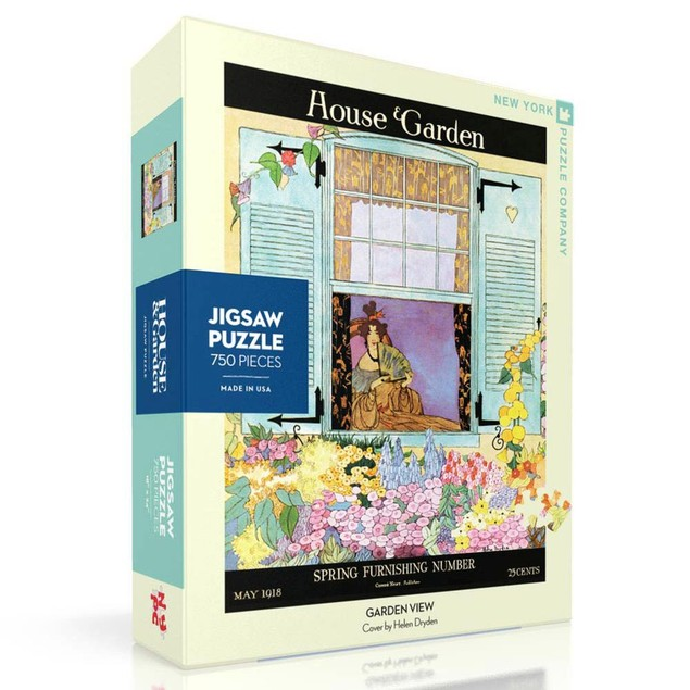 Garden View 750 Piece Puzzle, Gardens by New York Puzzle Company