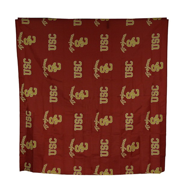 Ncaa Usc Trojans Fabric Shower Curtain 72X72 Inch Shower Curtains
