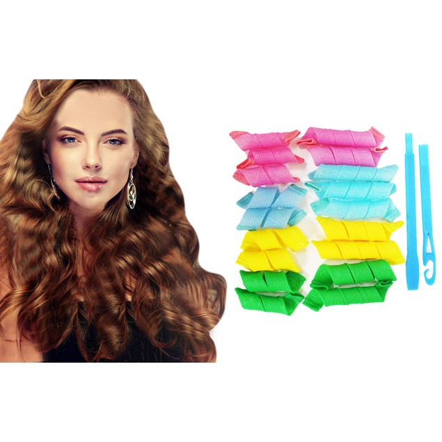 Spiral Hair Curlers -18 pc Set