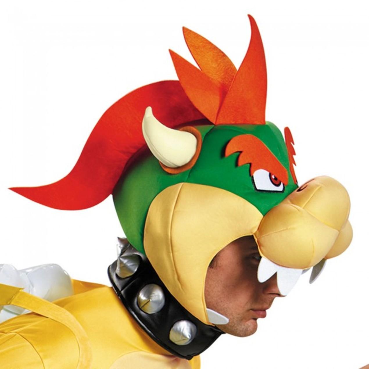 Bowser Deluxe Adult Costume Super Mario S Bros Jumpsuit Headpiece