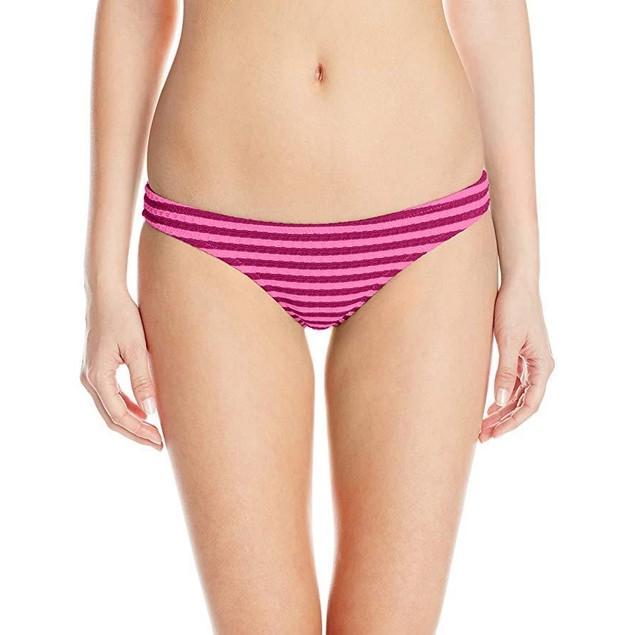 Volcom Women's Broken Lines Tiny Bikini Bottom, Fiesta Pink, Medium