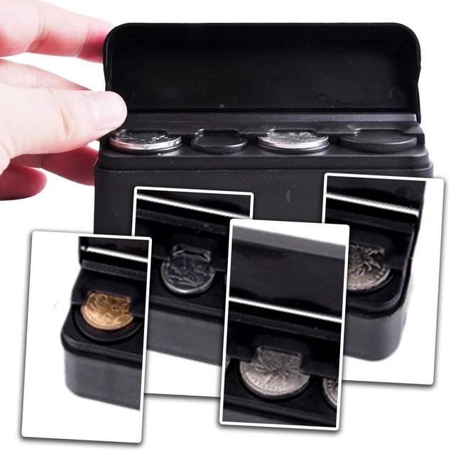 Zone Tech Coin Money Storage Case Organizer Holder Console Bin Container