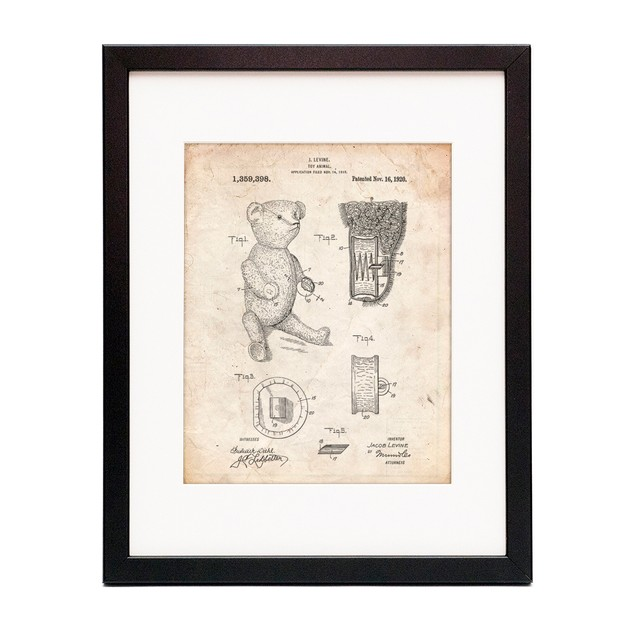 Whistle Teddy Bear 1919 Patent Poster
