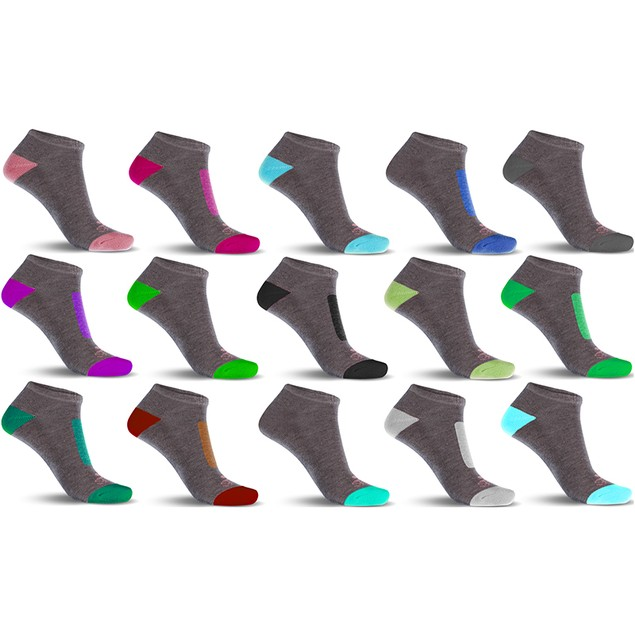10-Pairs Mystery Deal: Ladies Performance DRI-99 Cushioned Low-Cut Socks