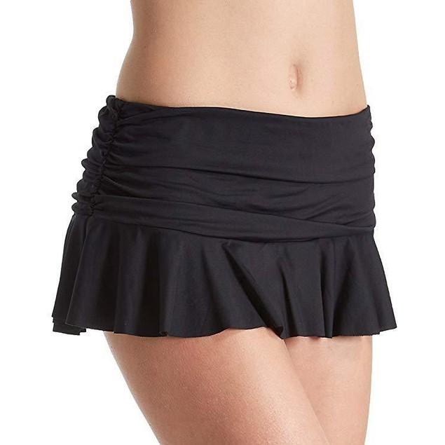 Lauren Ralph Lauren Women's Solid Ruffle Skirted Hipster Bottom Black