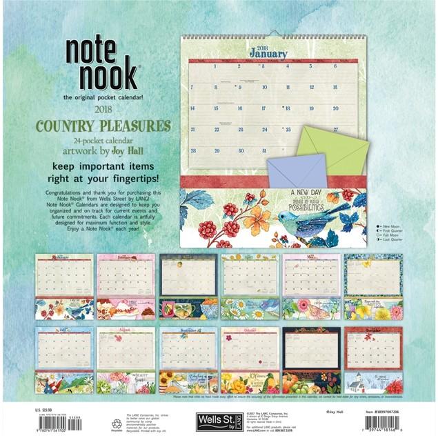 Country Pleasures Pocket Wall Calendar