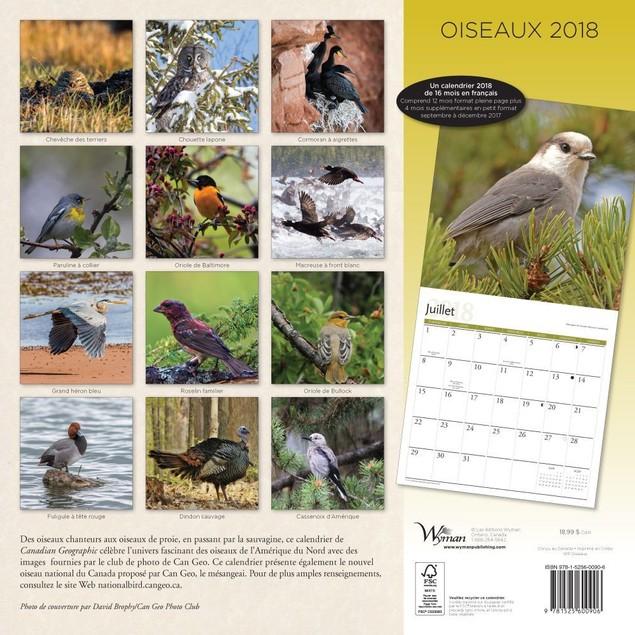 Oiseaux Wall Calendar, Birds by Calendars