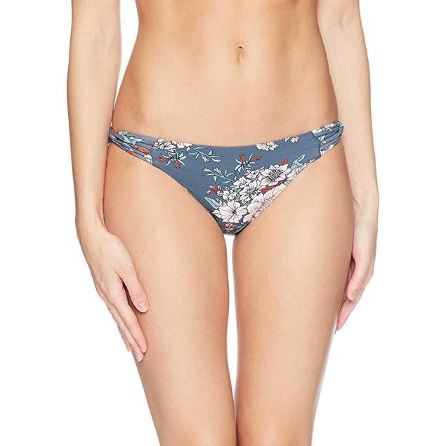 O'Neill Women's James Strappy Bikini Bottom Swimsuit, deep Teal, L