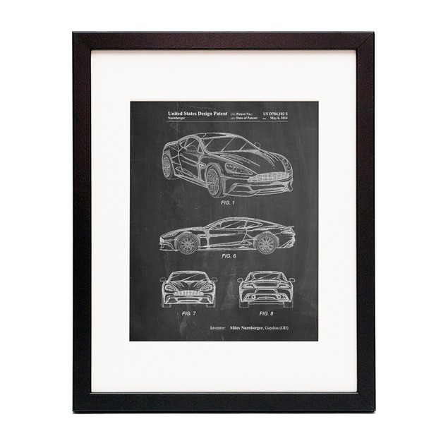 Sports Car Carbon Edition Patent Poster