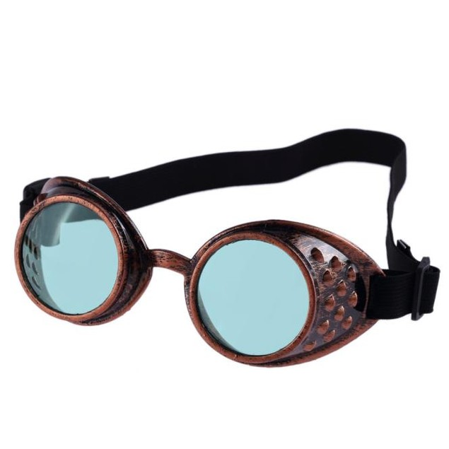 Vintage Style Steampunk Goggles Welding Punk Glasses Cosplay