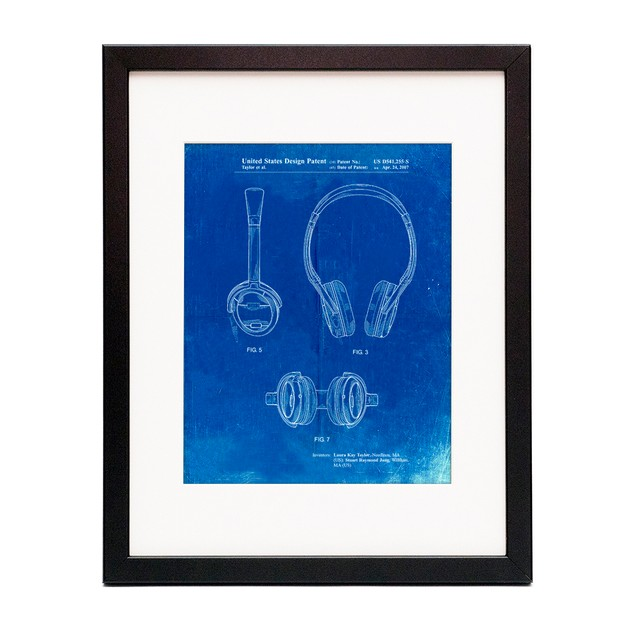 Noise Canceling Headphones Patent Poster