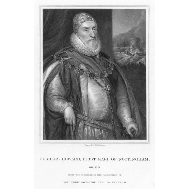 Sir Charles Howard /N(1536-1624). 2Nd Baron Howard Of Effingham, 1St Earl O